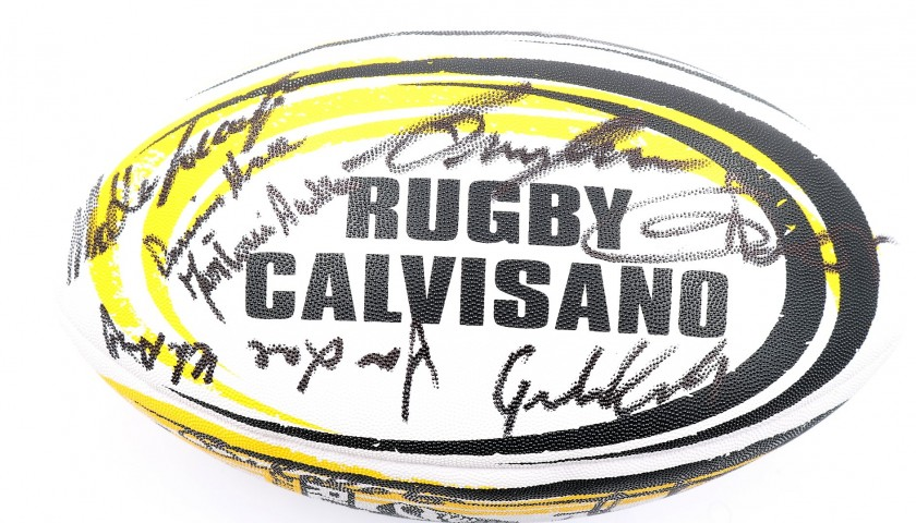Official Rugby Calvisano Ball - Signed by the Players