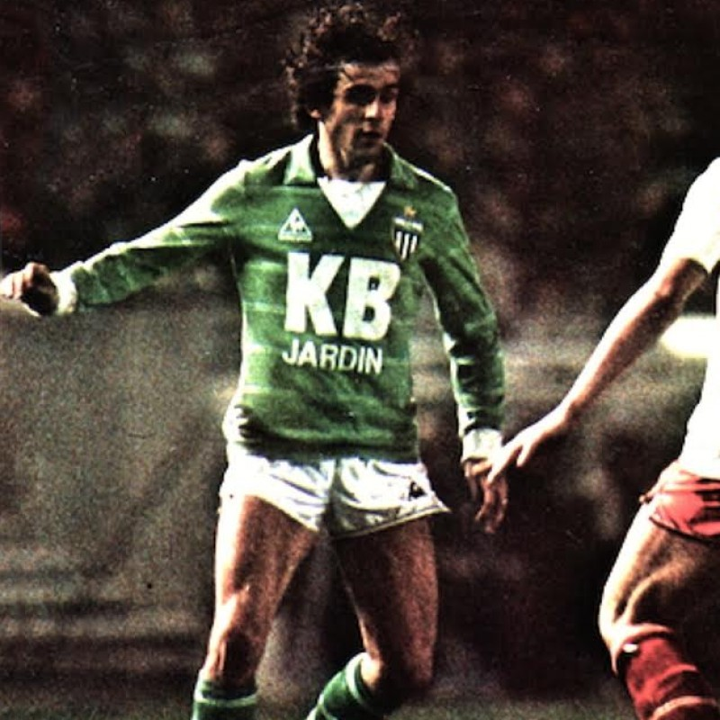 Platini Match Worn Saint-Etienne Shirt, Ligue 1 1981/82