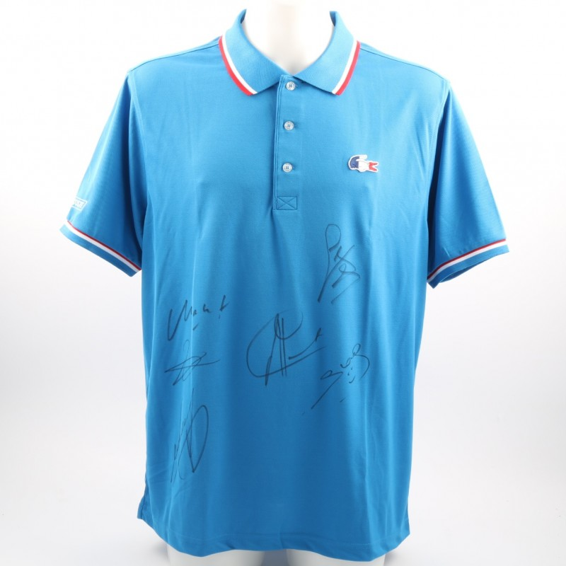 Official French Tennis Federation Shirt, Signed by the Players