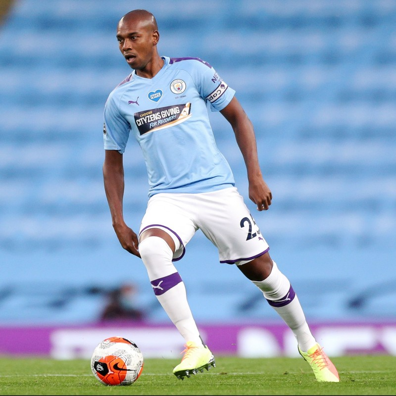 Cityzens Giving for Recovery Match Issued Shirt Signed by Fernandinho
