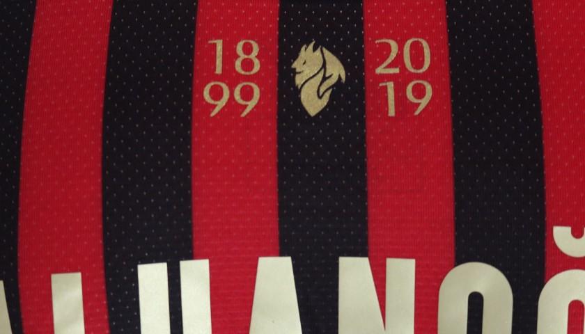 Calhanoglu's Worn Shirt, Milan-Sassuolo, 120th Anniversary