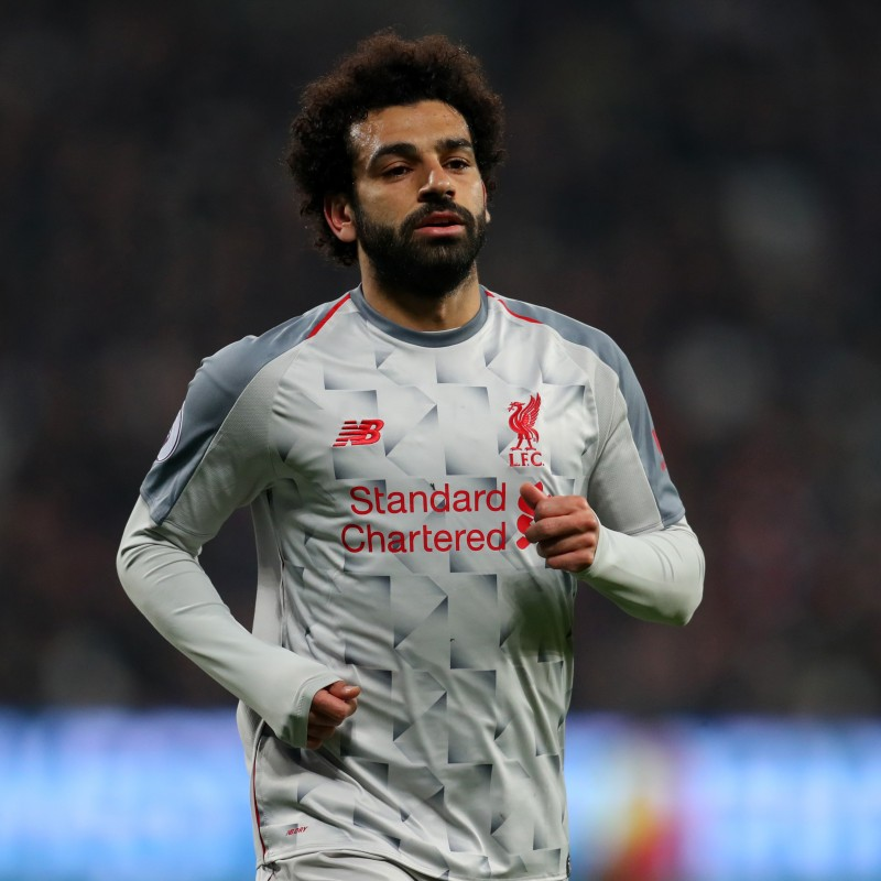 Salah's Worn Shirt, West Ham-Liverpool 2019