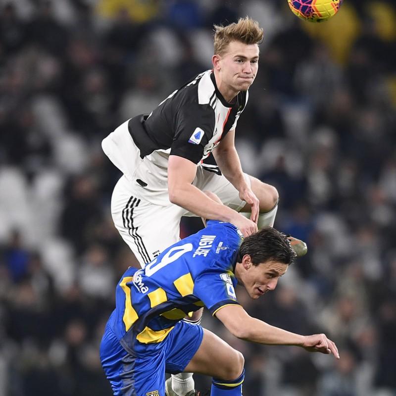 De Ligt's Worn and Unwashed Shirt, Juventus-Parma 2020