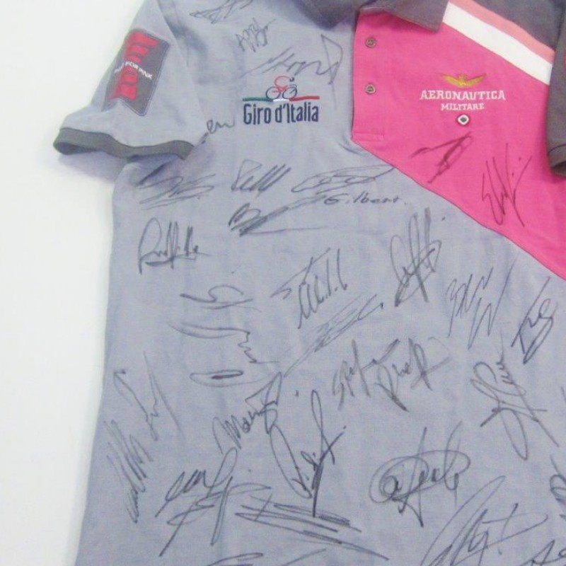 Aeronautica Militare shirt signed by Giro d'Italia riders