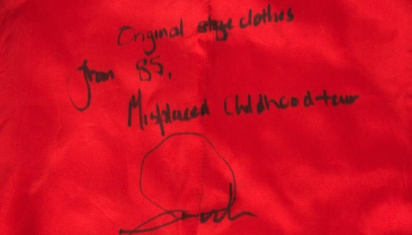 Unique Marillion Waistcoat with Kayleigh Lyrics Handwritten by Fish