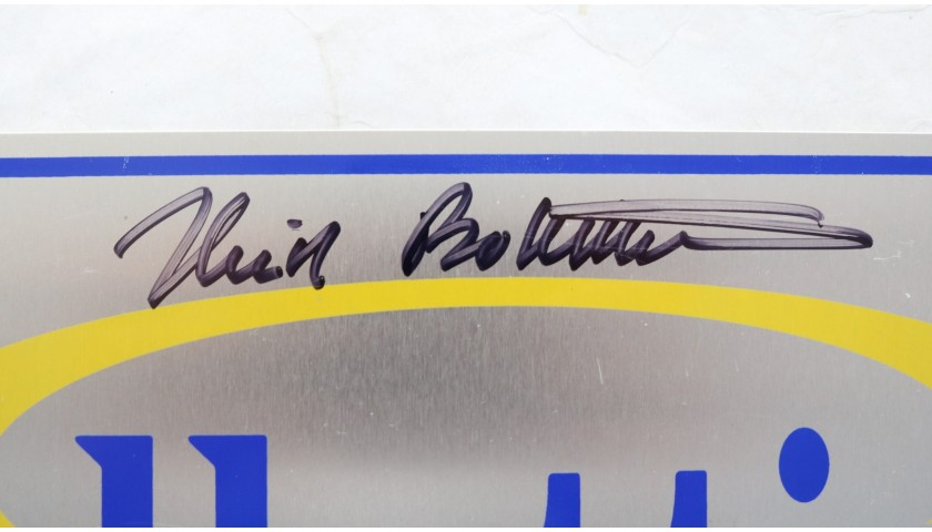 License Plate Signed by Nick Bollettieri