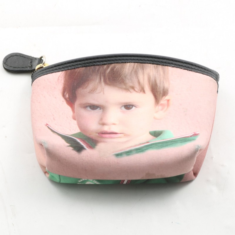 Pochette piccola personalizzabile realizzata da Teo Boutique