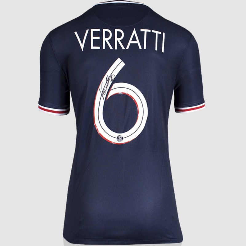 Verratti's Paris Saint-Germain Signed Shirt 2020-21