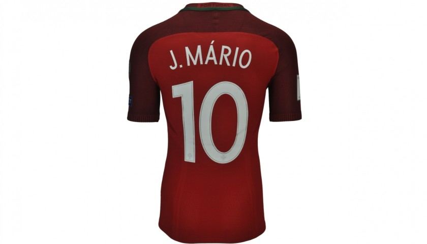 Joao Mario's Worn Match Shirt, Portugal-Latvia 2016