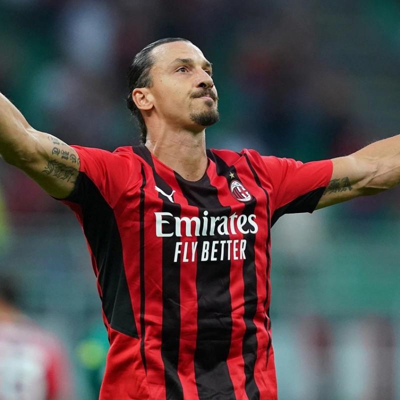 Ibrahimovic's Official AC Milan Signed Shirt, 2021/22