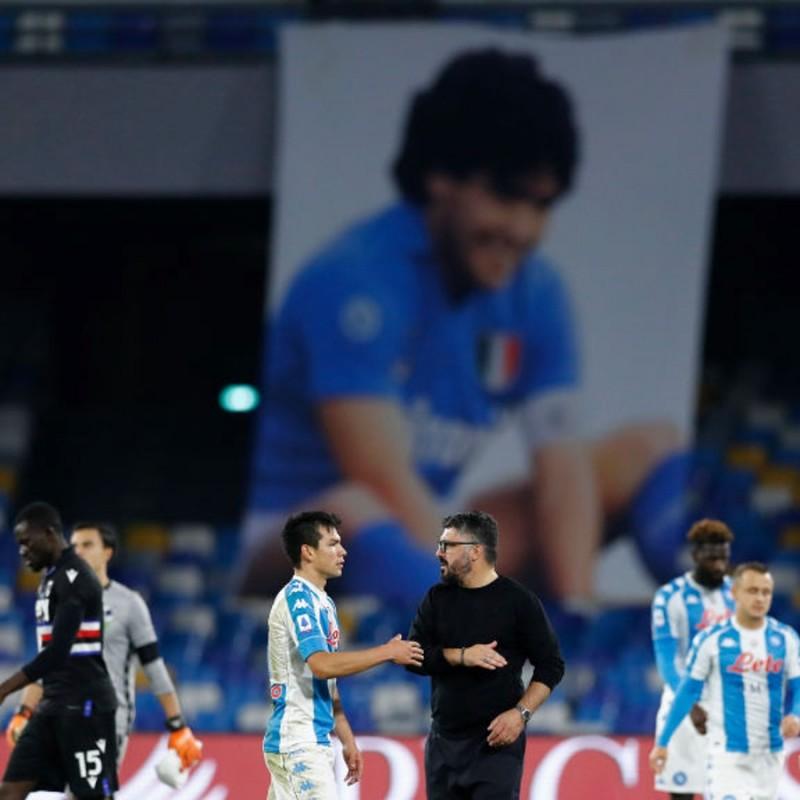 Ravaglia's Match-Issued Shirt, Napoli-Sampdoria 2020, Special Maradona