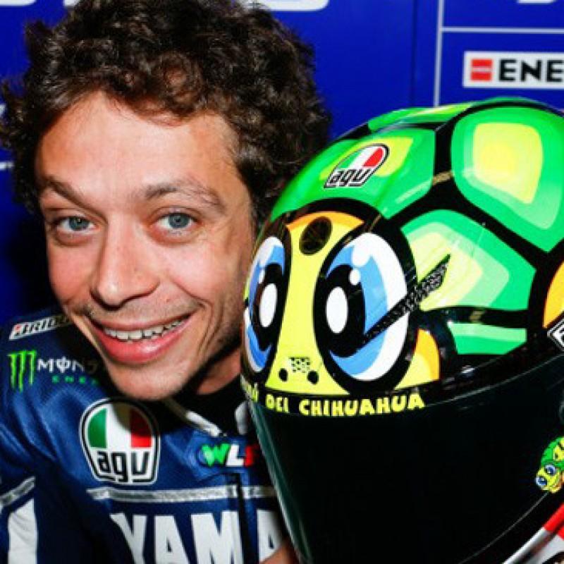 Valentino Rossi's Signed AGV Helmet, Mugello 2013