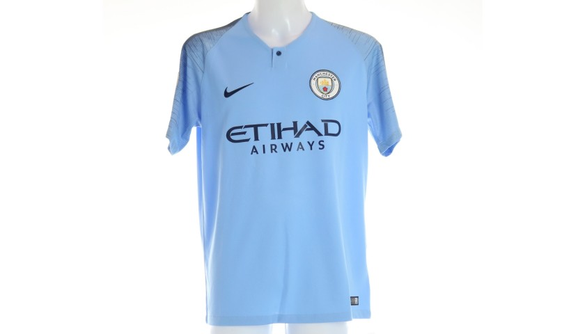 De Bruyne's Official Man City Signed Shirt, 2018/19