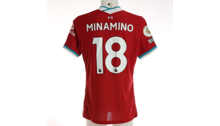 Minamino's Liverpool FC Match-Issued and Signed Shirt, Limited Edition 20/21
