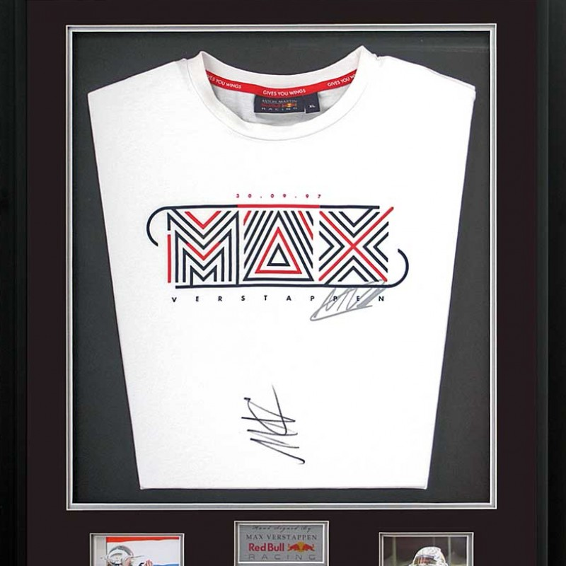 Max Verstappen Signed Red Bull T-Shirt Presentation