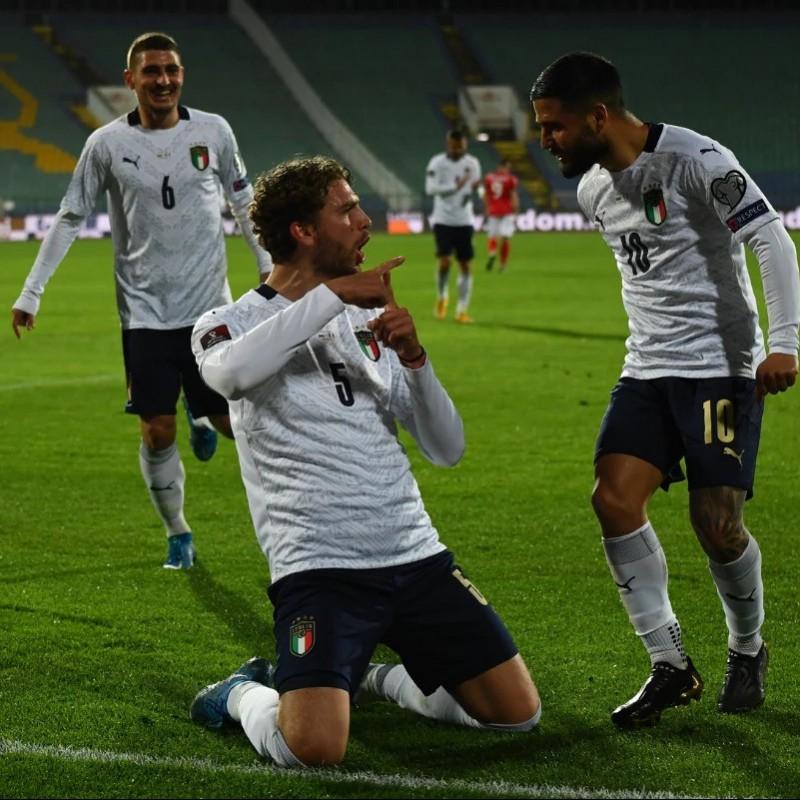 Locatelli's Match Shirt, Bulgaria-Italy 2021