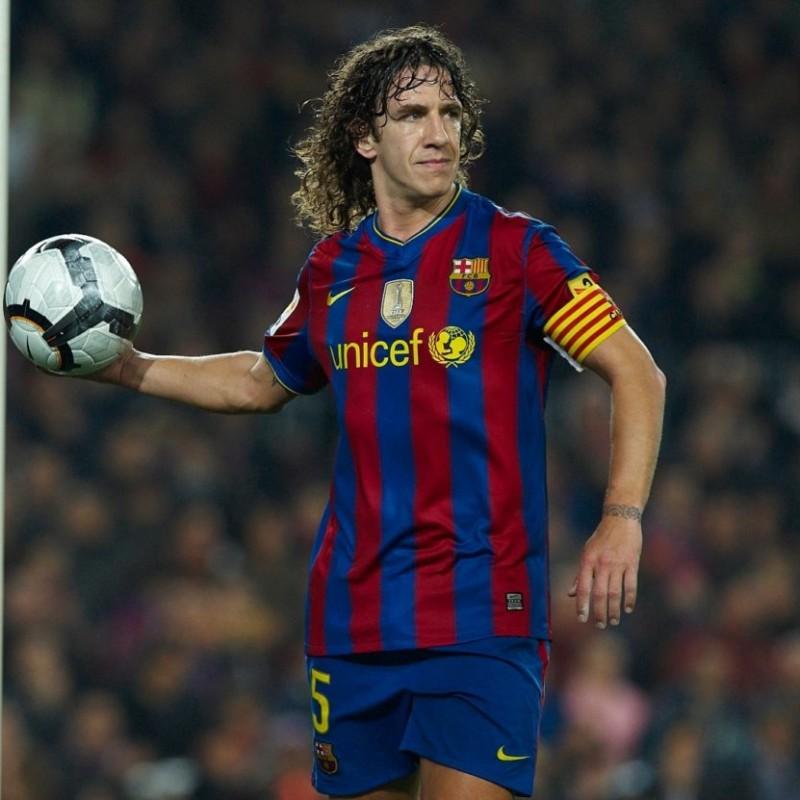 Puyol S Barcelona Match Shirt Liga 2009 10 Charitystars