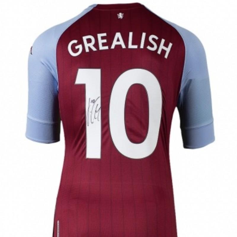 Grealish's Match-Issued Aston Villa Signed Shirt, 2020-21