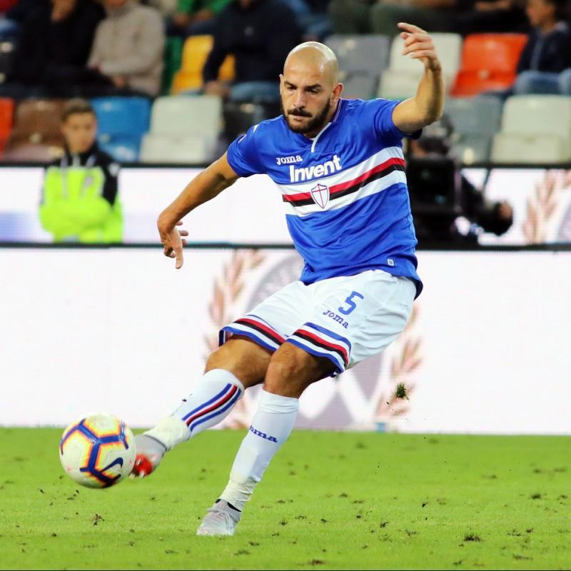 Saponara's Sampdoria Signed Match Shirt, 2018/19