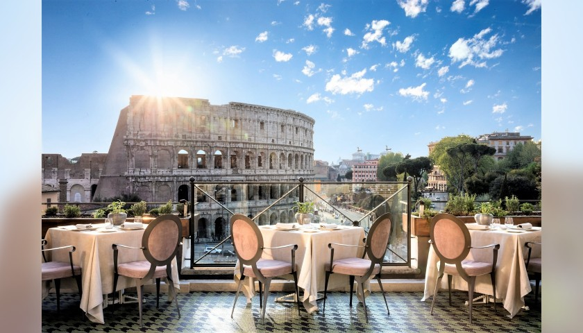 Dinner For Two At Aroma Luxury Restaurant In Rome Charitystars
