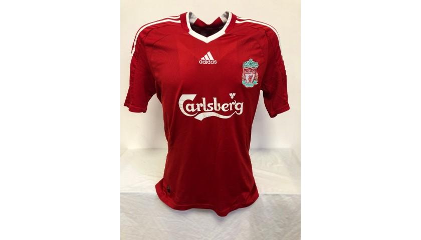 Mascherano's Liverpool Signed Official Shirt, 2008/09