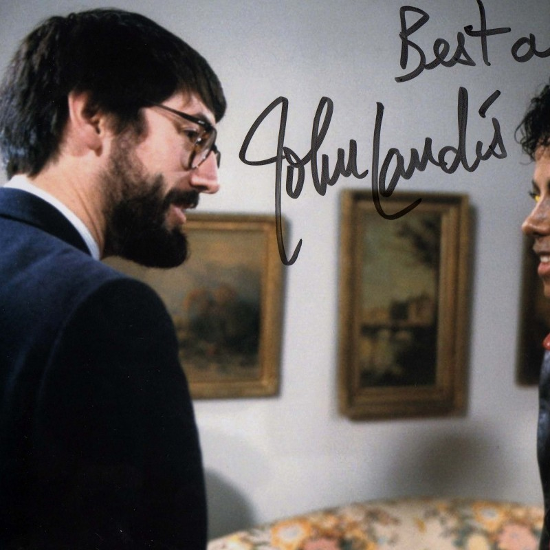 John Landis and Michael Jackson signed picture