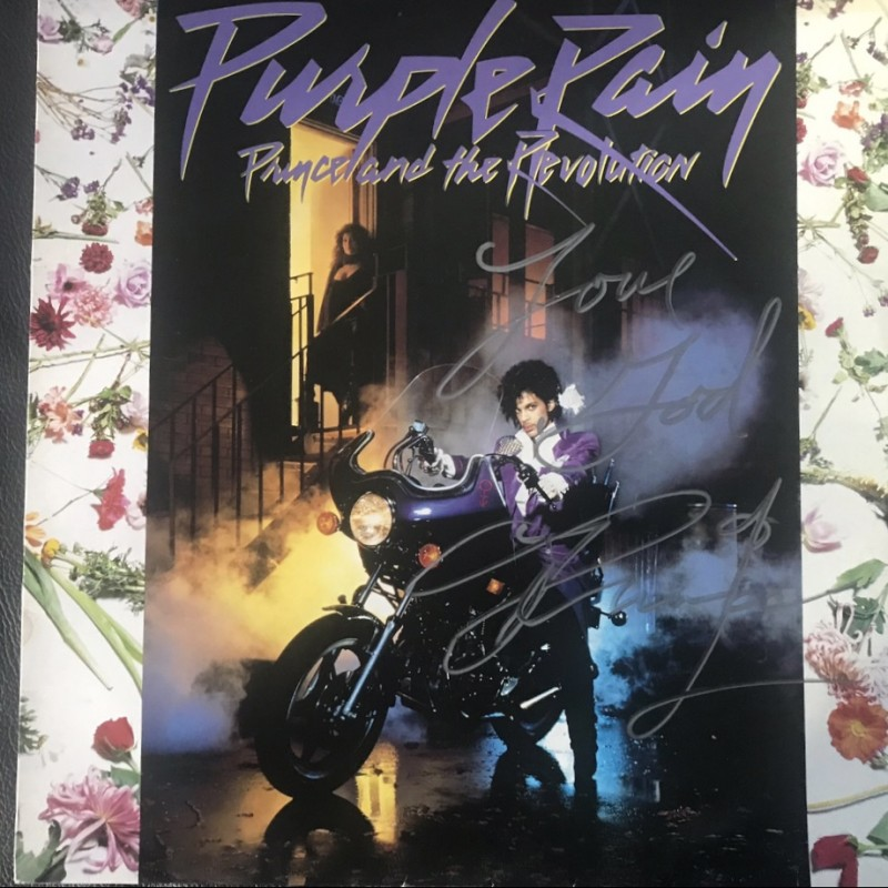 Prince Signed Purple Rain Vinyl LP