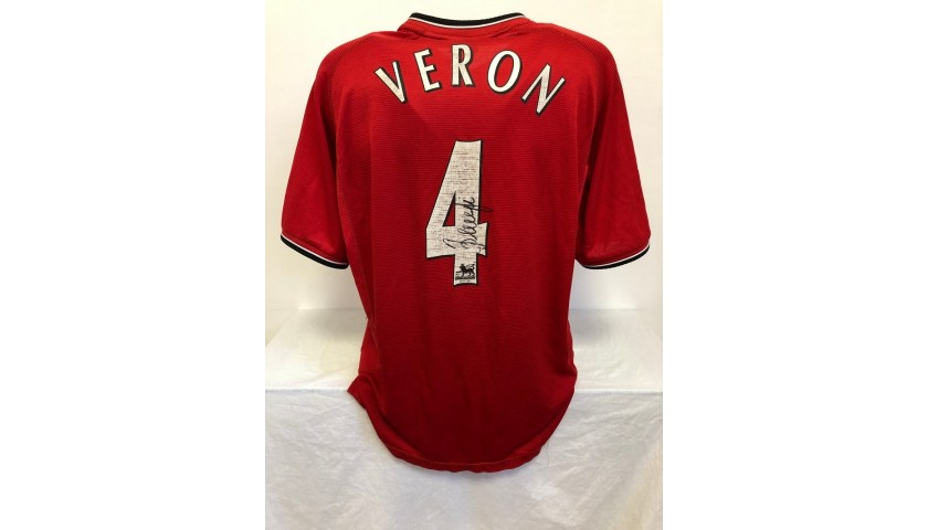 Veron's Official Manchester United Signed Shirt, 2001/02