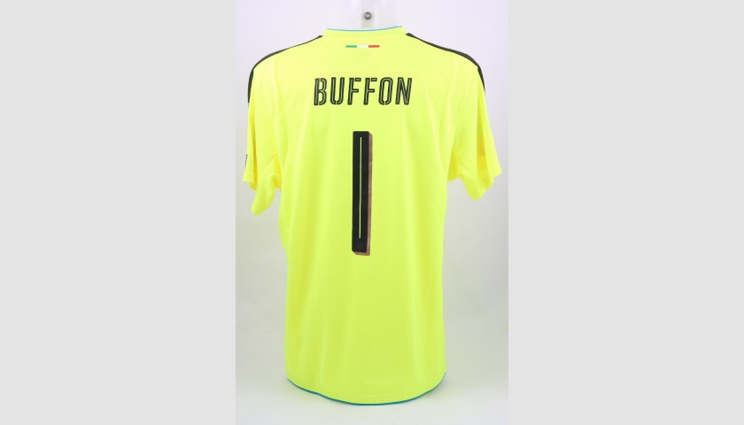 Buffon's Match-Issue/Worn Shirt Israel-Italy 2016