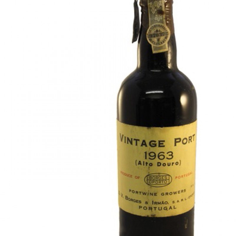 Bottle of Borges Vintage Port, 1963 (Alto Douro)