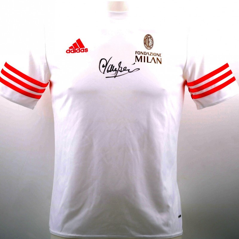 Fondazione Milan Shirt Signed by Franco Baresi