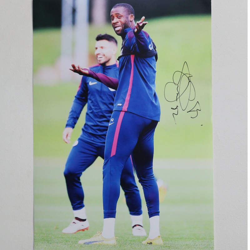 Yaya Touré Manchester City A2 Signed Photograph