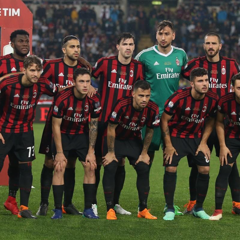 Abate's Match-Worn Juventus-Milan Shirt, 2018 TIM Cup Final