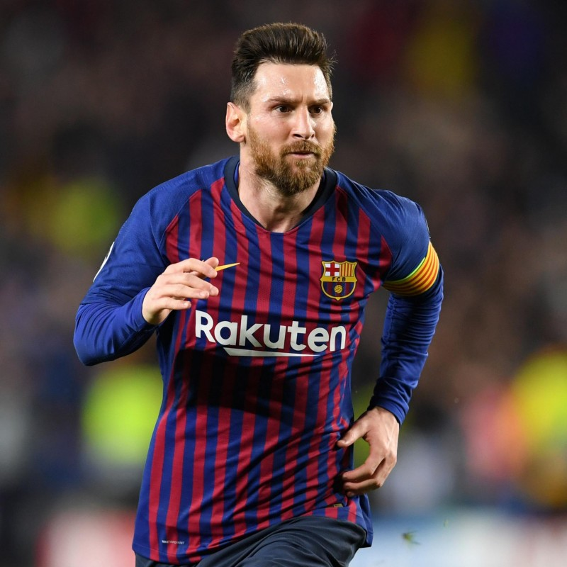 Messi's Barcelona Match Shirt, UCL 2018/19