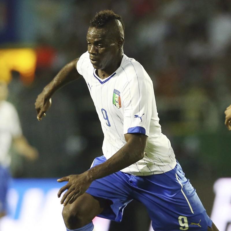 Balotelli's Italy Signed Match Shirt, 2014