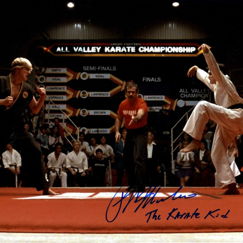"Ralph Macchio Hand Signed ""The Karate Kid"" Photograph"