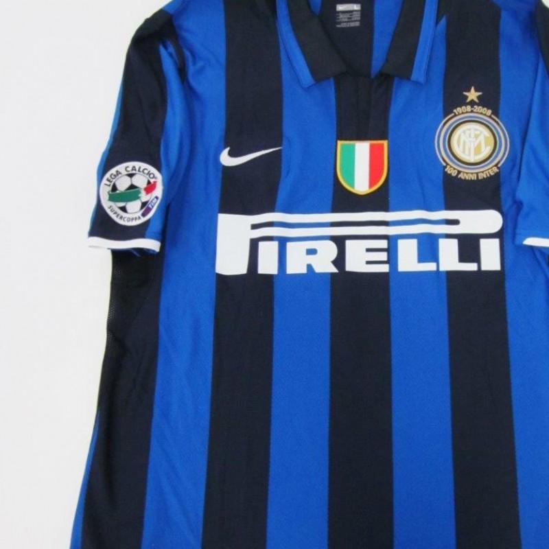 Figo match issued/worn shirt, Inter-Roma SuperCup 2008