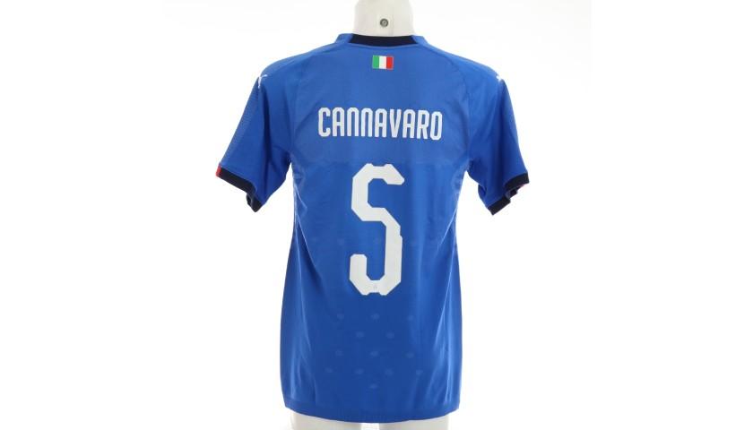Cannavaro's Match Shirt, Germany-Italy 2019