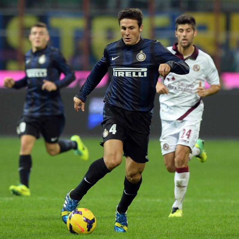 Zanetti's Inter Match Shirt, Serie A 2013/14
