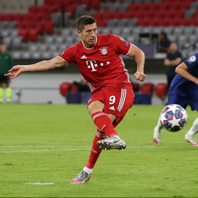 Match-Ball Bayern Munich-Chelsea 2020 - Signed by Lewandowski