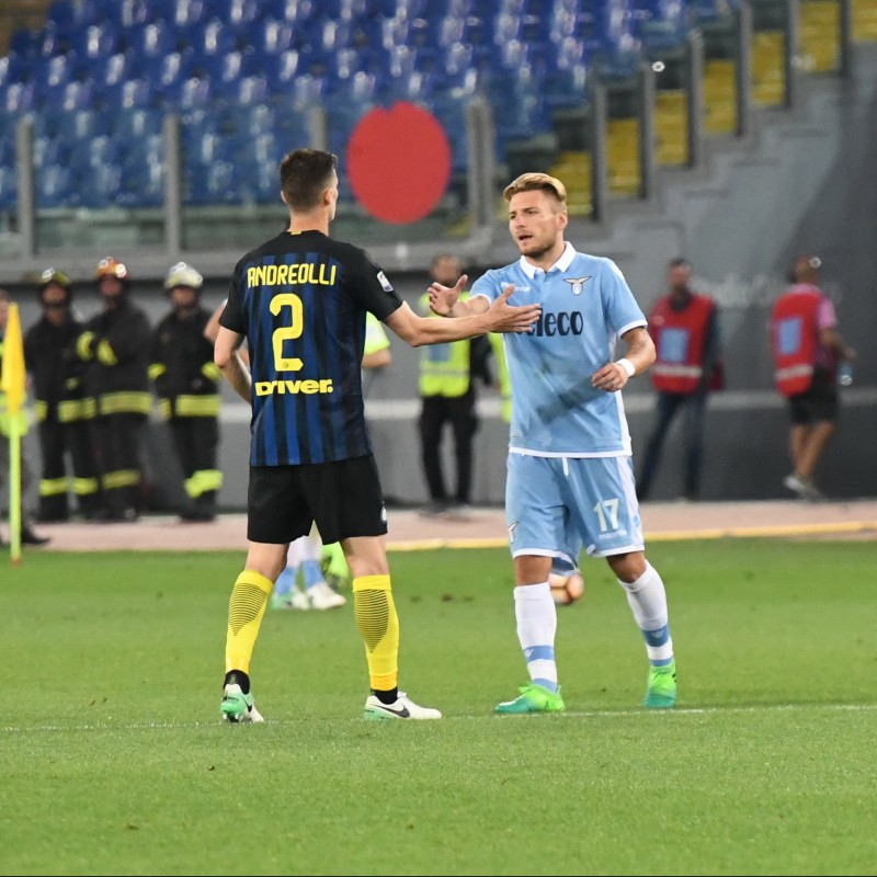 Immobile's Worn Shirt, Lazio-Inter 2017 - UNWASHED