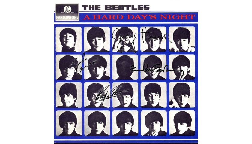 """The Beatles """"A Hard Day's Night"""" Album with Printed Signatures"""
