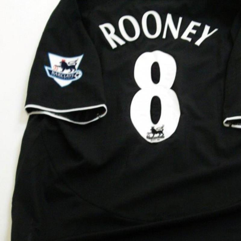 Manchester United match worn shirt, Wayne Rooney, Arsenal-Manchester United, Premier League 2004/2005