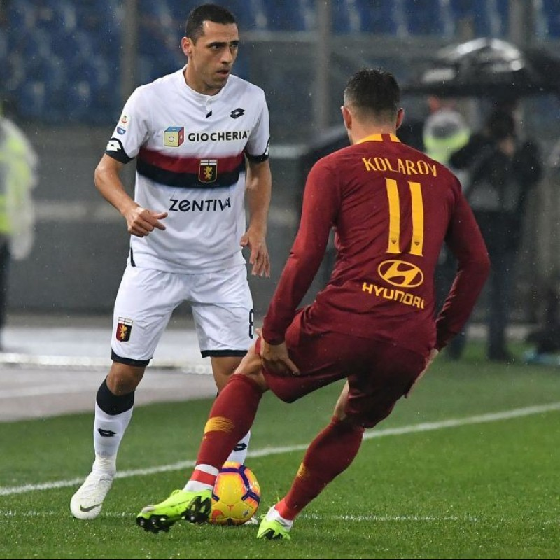 Kolarov's Worn and Signed Shirt, Roma-Genoa 2018