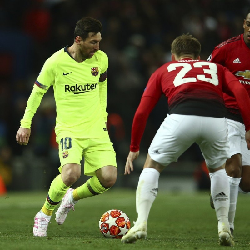 Messi's Barcelona Match-Issue Shirt, UCL 2018/19