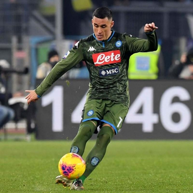 Callejon's Signed Match Shirt, Lazio-Napoli 2020