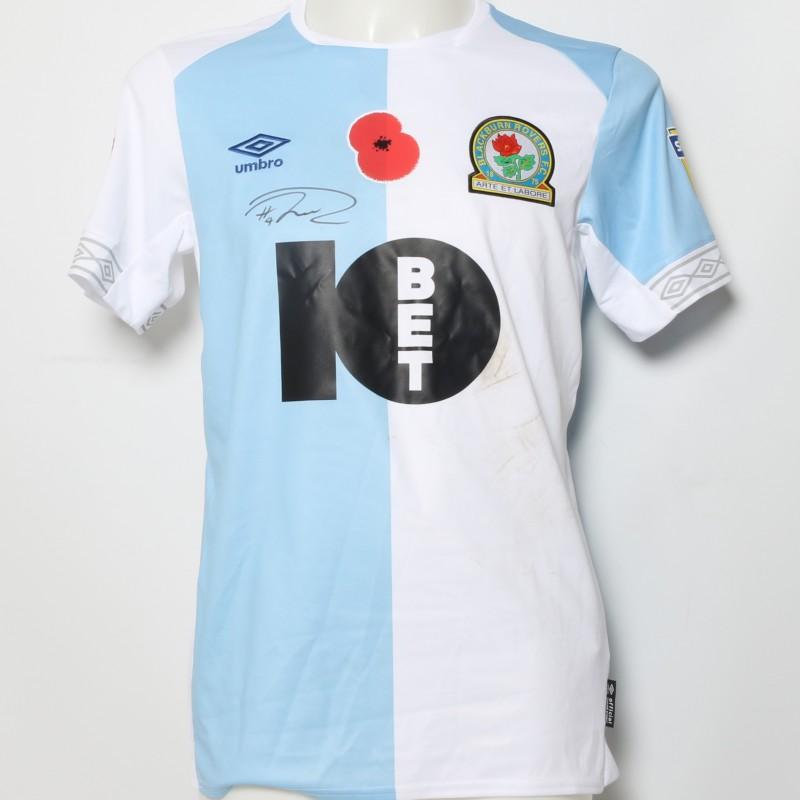 Harrison Reed's Match-Worn Blackburn Rovers Signed Poppy Home Shirt