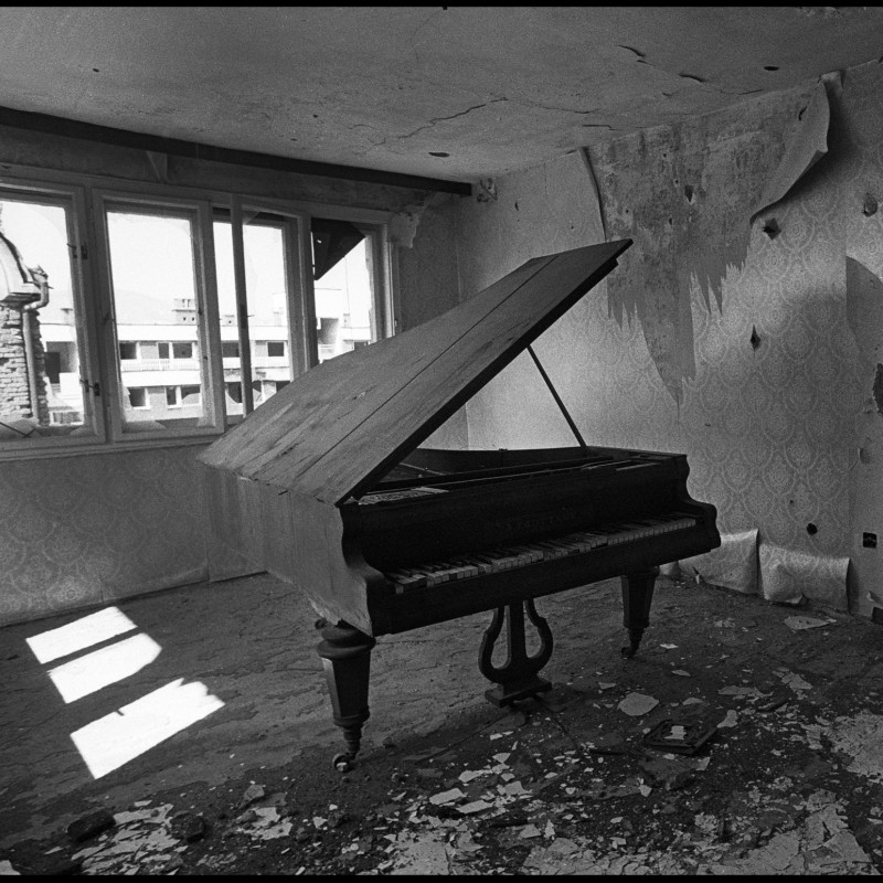 """The abandoned piano"" Photograph by Mario Boccia"