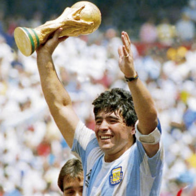 Official Argentina Pennant - Signed by Maradona
