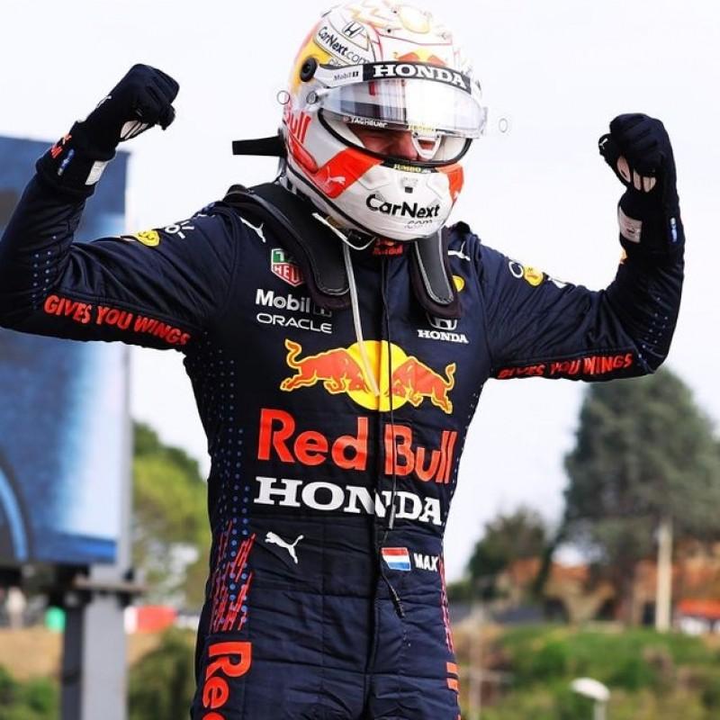 Max Verstappen 2021 Red Bull Signed Overalls